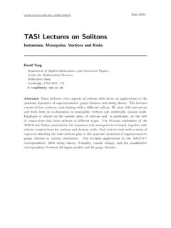TASI Lectures on Solitons - DAMTP