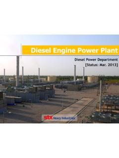 Diesel Engine Power Plant - STX중공업