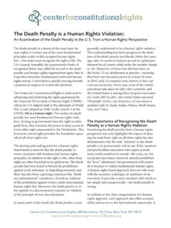 The Death Penalty is a Human Rights Violation