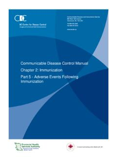Communicable Disease Control Manual Chapter 2 ...