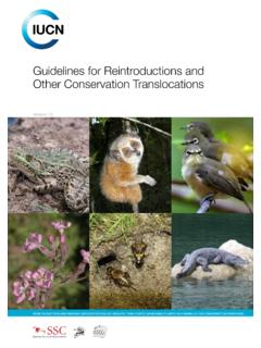 Guidelines for Reintroductions and Other Conservation ...