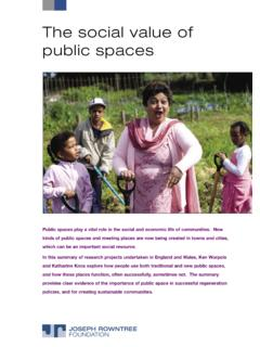 The social value of public spaces - JRF