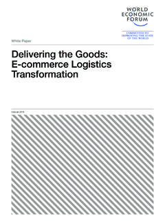 White Paper Delivering the Goods: E‑commerce Logistics ...