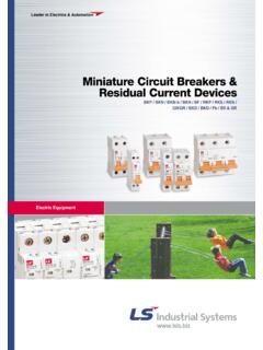Miniature Circuit Breakers & Residual Current Devices - Elinex