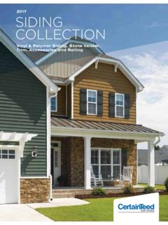 2017 SIDING COLLECTION - CertainTeed
