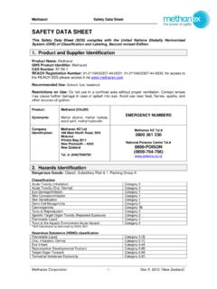 SAFETY DATA SHEET - Methanex Corporation
