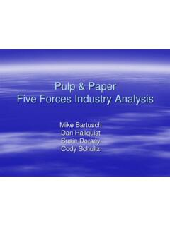 Pulp & Paper Five Forces Industry Analysis