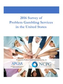 2016 Survey of Problem Gambling Services in the United States