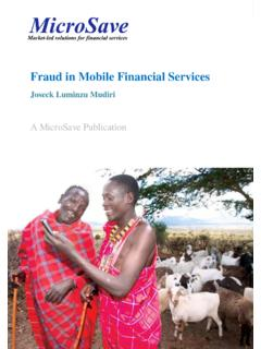 Fraud in Mobile Financial Services - MicroSave