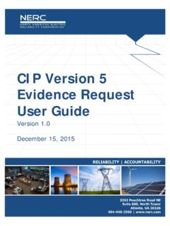 CIP Version 5 Evidence Request User Guide - …