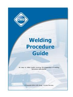 Welding Procedure Guide - CWB Group