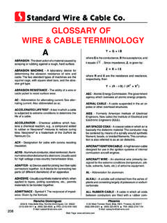 GlOssaRY OF WiRe & Cable TeRMiNOlOGY a