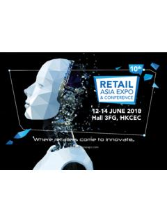 12-14 JUNE 2018 Hall 3FG, HKCEC - Retail Asia Expo