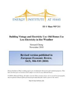 Building Vintage and Electricity Use: Old Homes …