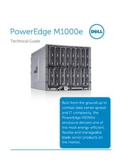 Dell PowerEdge M1000e Technical Guide