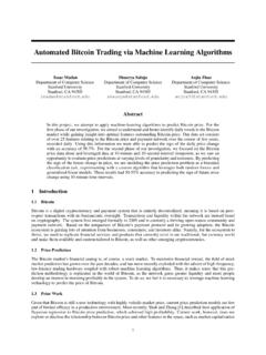 Automated Bitcoin Trading via Machine Learning …