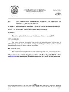 THE REPUBLIC OF LIBERIA Marine Notice - LISCR-J