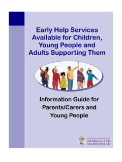 Information Guide for Parents/Carers and Young People