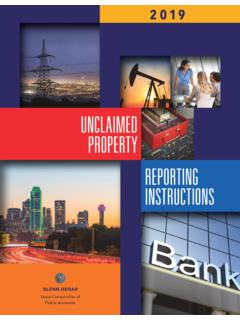 UNCLAIMED PROPERTY REPORTING INSTRUCTIONS - …