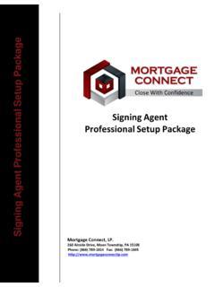 Signing Agent Vendor Setup Package - Mortgage Connect   Setup ...