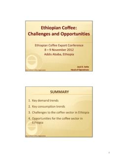 Ethiopian Coffee: Challenges and Opportunities