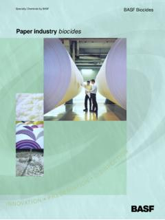 Paper industry biocides - BASF USA - Home