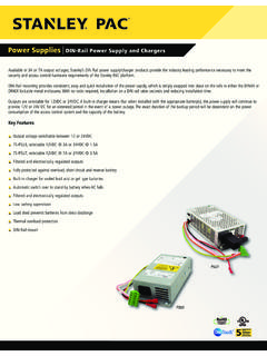 Access Control DIN-Rail Power Supply/Chargers - Stanley PAC
