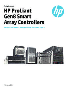 Family data sheet HP ProLiant Gen8 Smart Array …