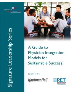 A Guide to Physician Integration Models for Sustainable ...