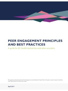 Peer engagement PrinciPles and Best Practices