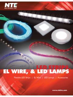 LED STRIPS, EL WIRE, & LED LAMPS - nteinc.com