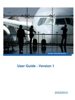 User Guide - Version 1 - Amadeus