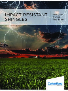 IMPACT RESISTANT The Calm During SHINGLES The Storm