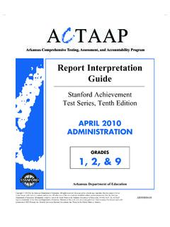 Report Interpretation Guide - State Board of Education