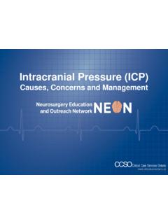Intracranial Pressure (ICP) - Critical Care Services Ontario