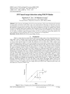 FFT based target detection using FMCW Radar - IOSR Journals