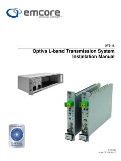 OTS-1L Optiva L-band Transmission System …