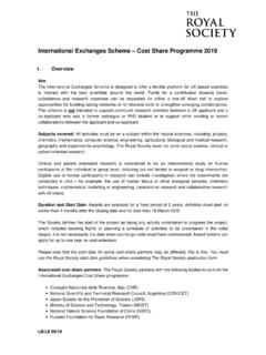 International Exchanges Cost Share Programme Scheme Notes