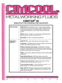 METALWORKING FLUID CONCENTRATE - …