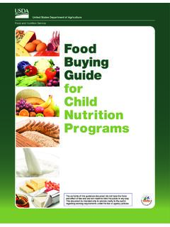 Food Buying Guide for Child Nutrition Programs: …
