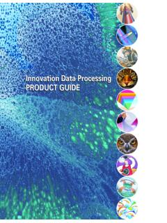 Innovation Data Processing PRODUCT GUIDE - FDR