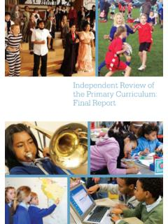 Independent Review of the Primary Currriculum: Final Report