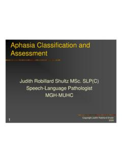 Aphasia Classification and Assessment - McGill University