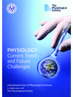PHYSIOLOGY Current Trends and Future Challenges - IUPS
