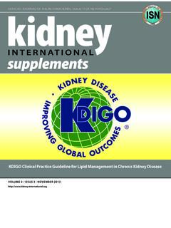 KDIGO Clinical Practice Guideline for Lipid Management in ...