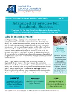 Advanced Literacies For Academic Success