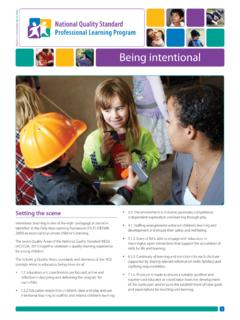 Being intentional - Early Childhood Australia