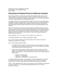 Estimating the Payback Period of Additional Insulation