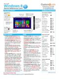 Windows 8 Quick Reference - CustomGuide