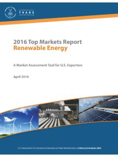 2016 Top Markets Report Renewable Energy